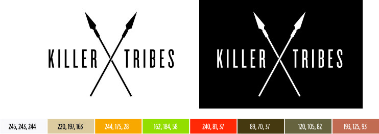 Web Design Portfolio Piece - Killer Tribes Branding
