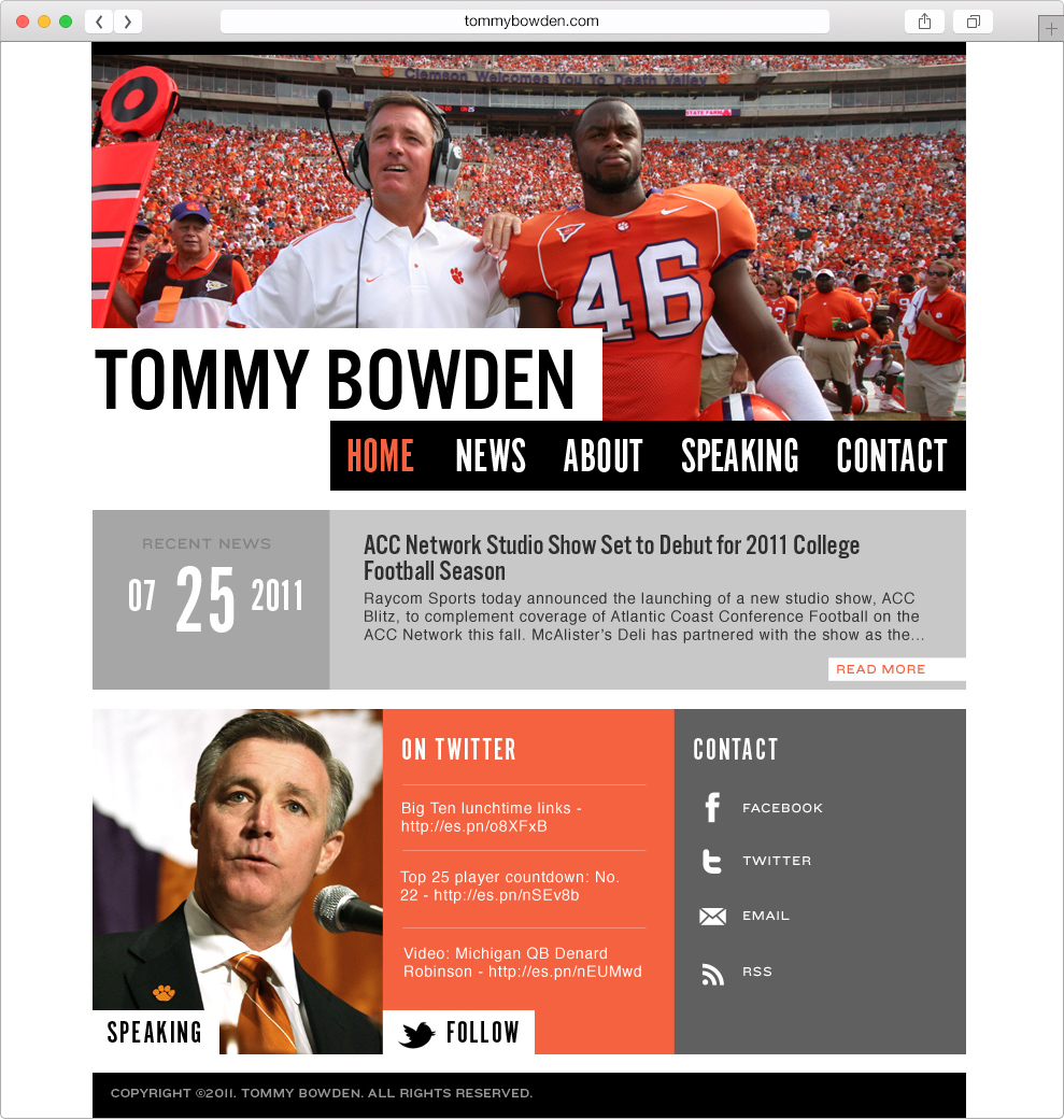 Tommy Bowden - AMY HAYWOOD