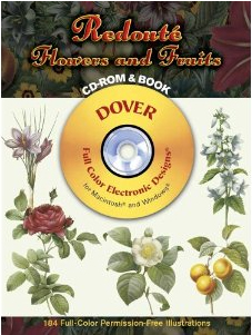 Redouté Flowers and Fruits CD-ROM and Book